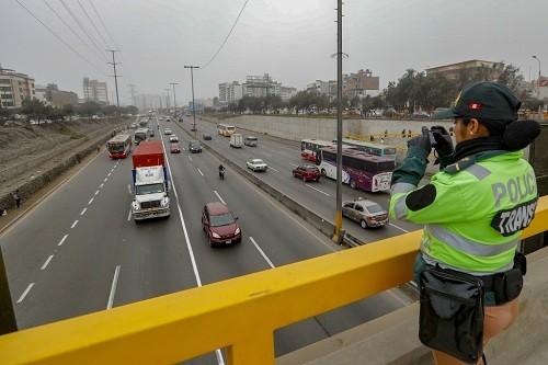 Velocidad en Panamericana sur mejoró en 53% con 'hora pico y placa'