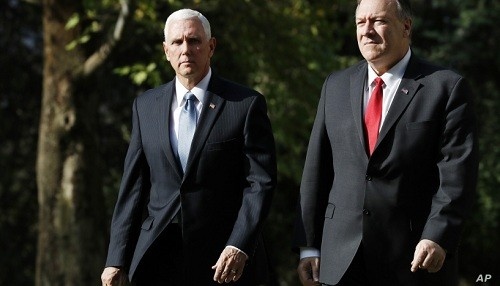 Pence, Pompeo llega a Turquía para impulsar el alto el fuego de Siria