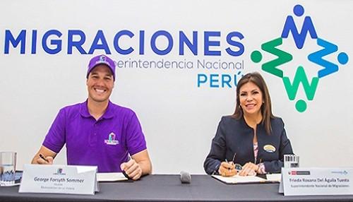 MIGRACIONES firma convenio con la Municipalidad de La Victoria para fortalecer control migratorio