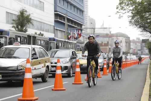 Este miércoles se hará nueva prueba del carril para ciclistas