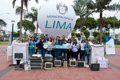 Tecnorecicla Lima: se recolectó más de 2 toneladas de residuos en primer fin de semana