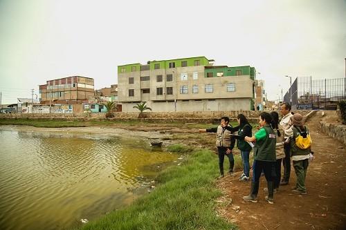 Con drones se identifican fuentes contaminantes que afectan el Refugio de Vida Silvestre Los Pantanos de Villa
