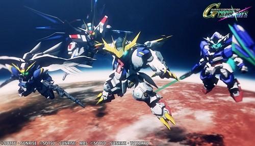 SD Gundam G Generation Cross Rays lanza en el Oeste
