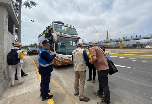 Municipalidad de Lima realizó operativo inopinado a agencias de transporte turístico