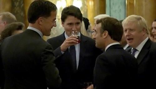 Trudeau, Johnson, Macron parecen estar burlándose de Trump en un video de la cumbre de la OTAN