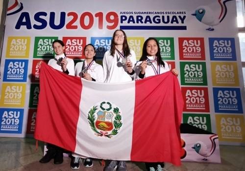Sotomayor y León lideraron natación en Sudamericano Escolar 2019