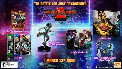 My Hero One's Justice 2 muestra su Edición de Coleccionista, que ya está disponible para pre-ordenar!