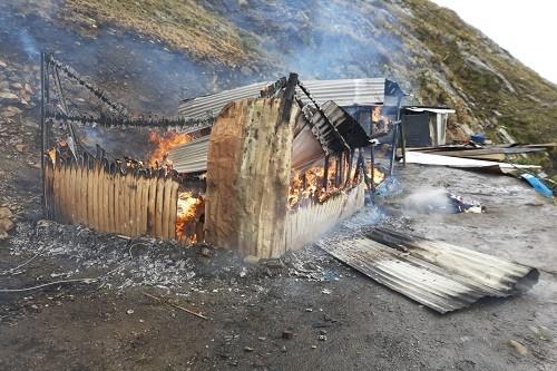 Destruyen campamento minero ilegal al interior del Parque Nacional Huascarán