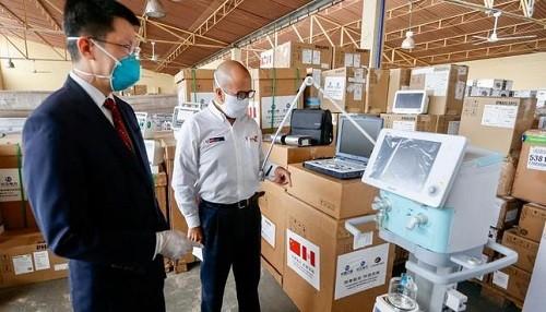 Minsa recibe del Gobierno Chino donación de equipos biomédicos para apoyar la lucha contra el Covid-19