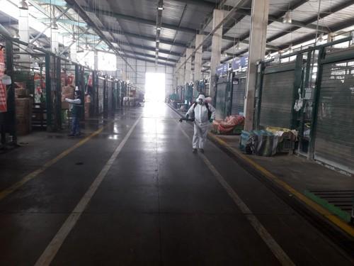 Municipalidad de Lima y Senasa realizaron desinfección del Gran Mercado Mayorista de Lima