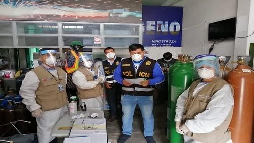 Intervienen locales de venta de oxígeno de dudosa calidad para el uso humano