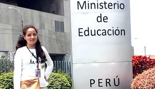 Alumna del COAR Cajamarca gana beca para programa de ciencia y tecnología