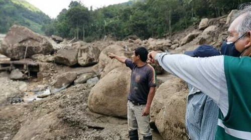 MIDAGRI en acción conjunta con Gobierno Regional de Piura intervienen en Canchaque tras aluvión