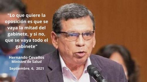 Hernando Cevallos: Oposición busca que mayoría de ministros renuncien a sus cargos o sean removidos