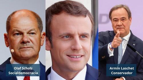 Candidatos a la cancillería de Alemania se da una vuelta por París
