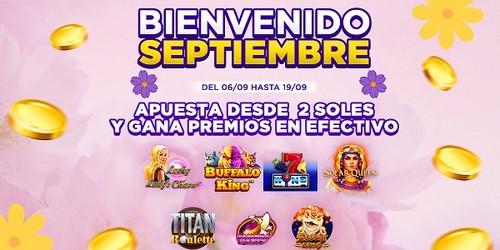 Bienvenido septiembre: ¡Disfruta los mejores juegos de casino y empieza a ganar dinero!