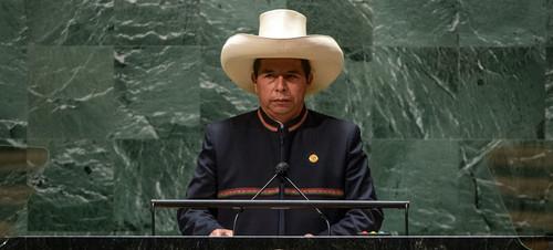 Presidente Pedro Castillo ante la ONU: 'Condenamos y rechazamos al terrorismo en todas sus formas'