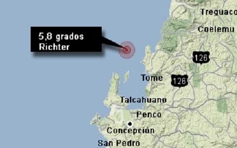 Chile es remecido por sismo de 5,8 grados
