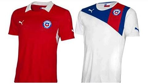 Chile presentó su nuevo modelo de camiseta