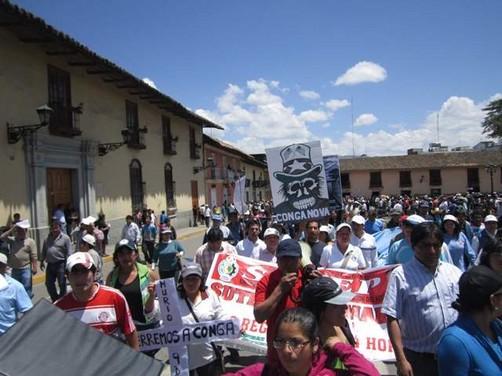 Pobladores en Cajamarca: 'Si Alan tuvo su Baguazo, Ollanta tendrá su Celendinazo'
