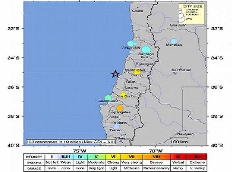 Terremoto en Chile alcanzó a la Argentina