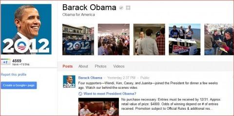 Presidente Obama ya tiene cuenta en Google +