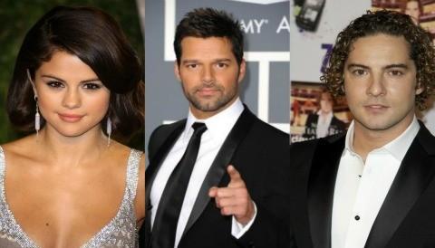 Selena Gómez, Ricky Martin y David Bisbal, juntos en México