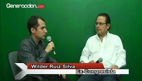Entrevista al excongresista Wilder Ruiz Silva