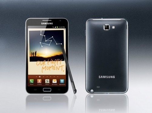 Galaxy Note de Samsung fue lanzado con 4G