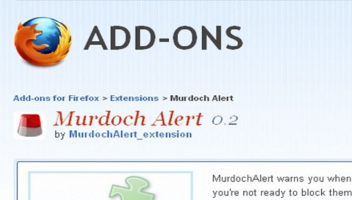 Un 'anti-Murdoch' en Firefox y Chrome