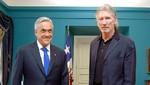 Presidente chileno recibió a ex líder de la banda Pink Floyd
