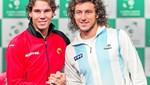 Rafael Nadal y Juan Mónaco juegan el primer partido de la gran final de la Copa Davis