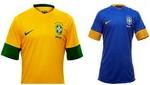 Neymar y Ganso fueron los encargados de mostrar el nuevo modelo de la camiseta de Brasil