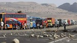 Último: Vuelven a bloquear Panamericana Sur en Cañete