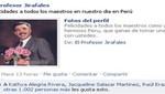 Profesor Jirafales envió saludos a los maestros peruanos por su día