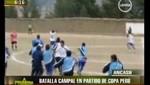 Roban implementos de equipo visitante durante batalla campal en Copa Perú