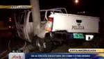 Policías resultan graves tras chocar su patrullero durante una persecución