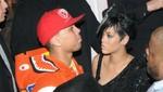 Chris Brown estuvo con Rihanna en su camerino durante los ensayos de los Grammy