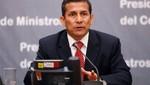El 58% de peruanos aprueba labor de Ollanta Humala