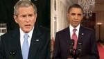 Obama y Bush juntos en ceremonia de conmemoración del 11 de Setiembre