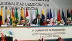 Ex presidentes firman Declaración de Lima