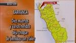 Accidente en Barranca deja doce muertos y varios heridos