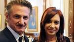 El actor Sean Penn se reunió con la presidenta Cristina Fernández