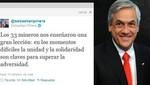 Chile: Piñera hizo llegar su saludo a 33 mineros de Atacama