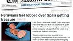 Activista peruano convoca manifestación de reclamo contra España Por los 'Tesoros de Odyssey'