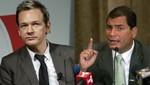 Julian Assange entrevistó al presidente de Ecuador Rafael Correa