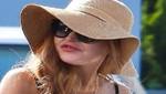 Lindsay Lohan luce labios hinchados por exceso de colágeno