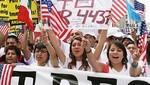 Inmigrantes ilegales manifestaron en EE.UU