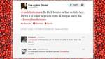 Eva Ayllón no recordó muerte de César Vilca en Twitter