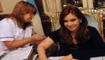 Cristina Fernández se vacunó contra la gripe en la Casa Rosada (Foto)